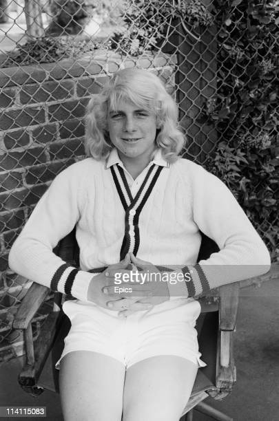 American actor and filmmaker Darby Hinton poses in tennis wear United States circa 1978