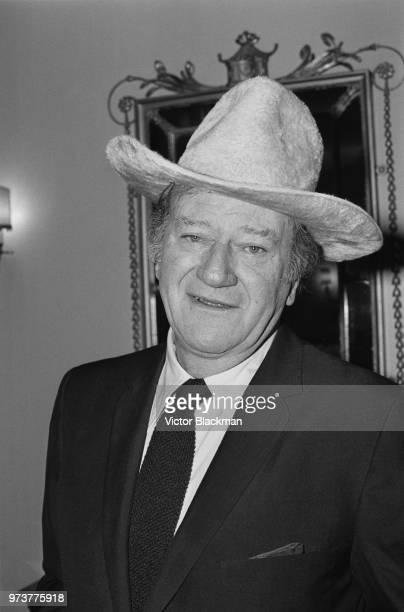 American actor and filmmaker John Wayne , London, UK, 18th January 1974.