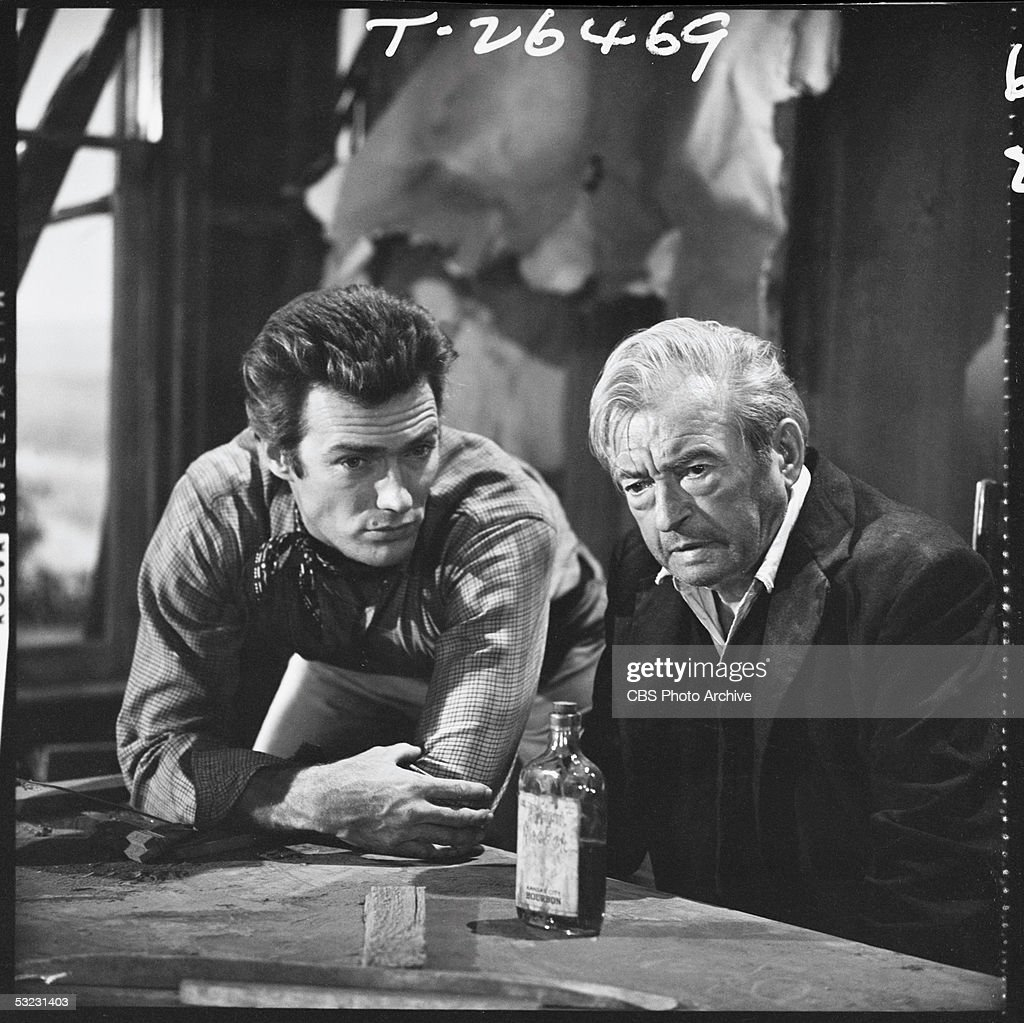 Clint Eastwood & Claude Rains In 'Rawhide' : News Photo