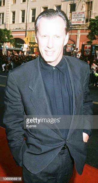 American actor and producer James Woods at a red carpet event, circa 1990.