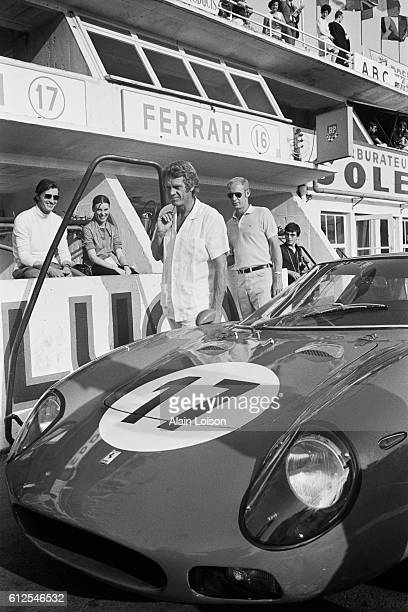"""American actor and racer Steve Mc Queen, nicknamed """"The King of Cool"""", attends the 1969 24 Hours of Le Mans."""