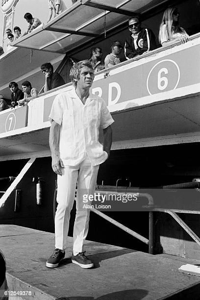 American actor and racer Steve McQueen nicknamed 'The King of Cool' attends the 1969 running of the 24 Hours of Le Mans