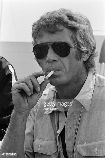American actor and racer Steve McQueen nicknamed 'The King of Cool' attends the 1969 24 Hours of Le Mans