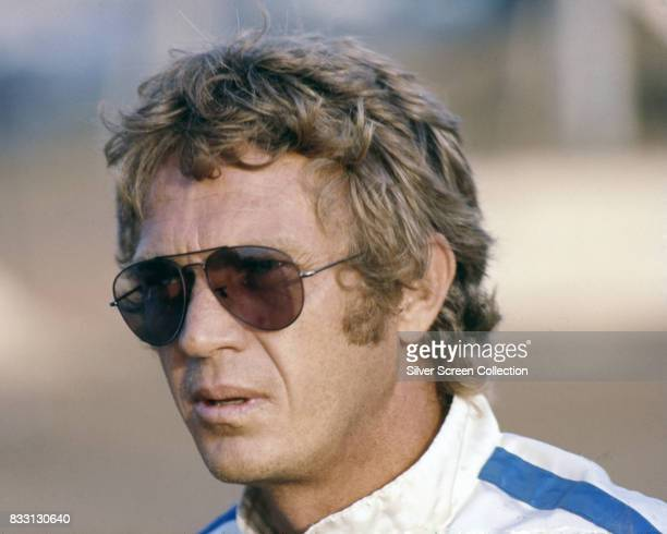 American actor and racer Steve McQueen on the set of Le Mans, directed by Lee H. Katzin, circa 1971.