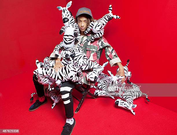 American actor and rapper Jaden Smith is photographed at the 2015 MTV VMA Awards on August 30 2015 at the Microsoft Theater in Los Angeles California