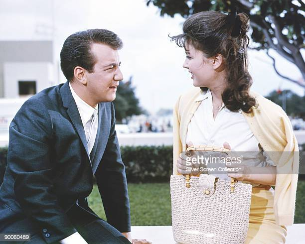 American actor and singer Bobby Darin as Jerry Dundee and Pamela Tiffin as Margy Frake in the film 'State Fair' 1962