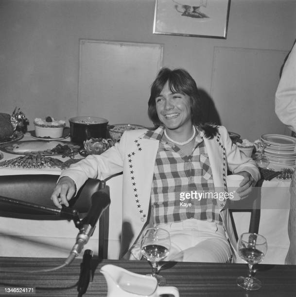 American actor and singer David Cassidy at the London Weekend Television studios in London, UK, 25th May 1974.