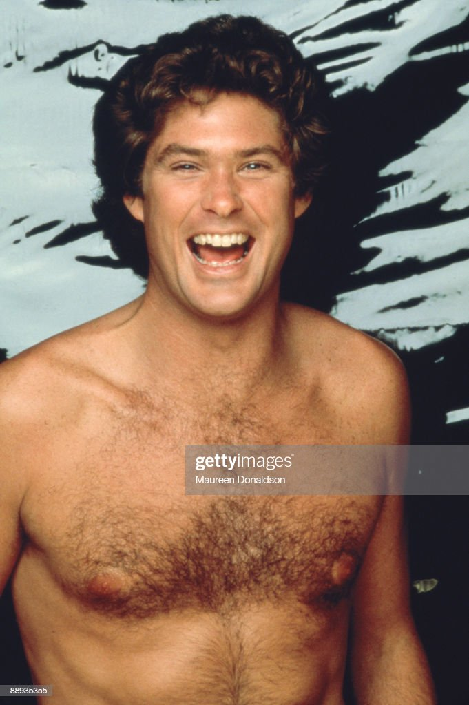 American actor and singer David Hasselhoff in Malibu, California, circa 1990.