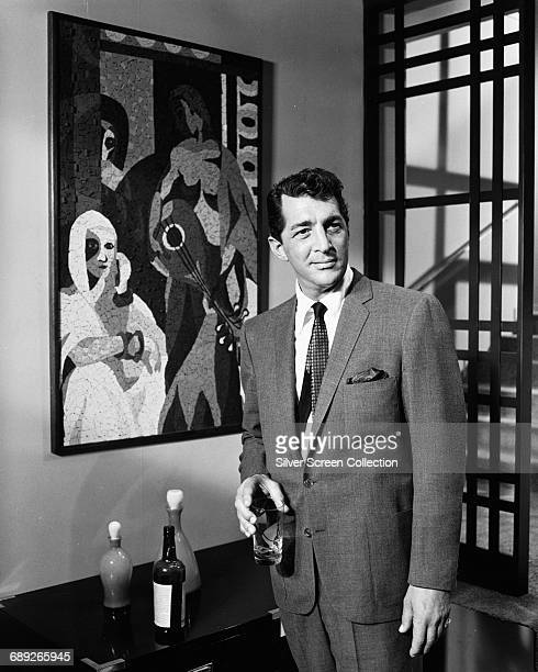 American actor and singer Dean Martin as Sam Harmon in the heist film 'Ocean's 11' 1960