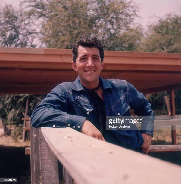 American actor and singer Dean Martin on his ranch circa 1965