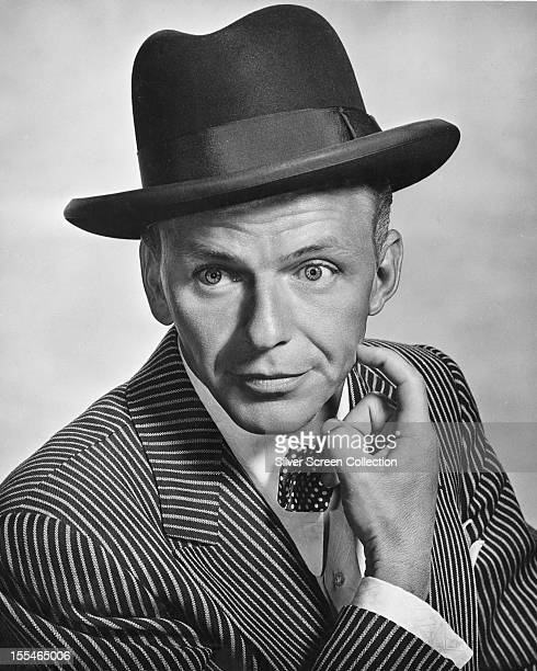 American actor and singer Frank Sinatra as Nathan Detroit in 'Guys And Dolls' directed by Joseph L Mankiewicz 1955