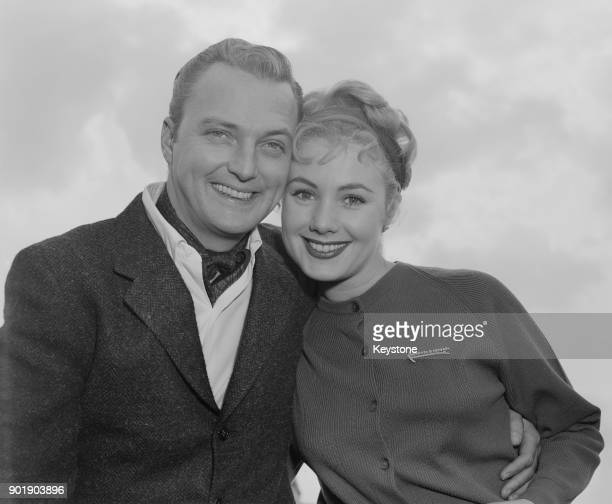 American actor and singer Jack Cassidy the father of singer David Cassidy with his second his wife actress and singer Shirley Jones circa 1970