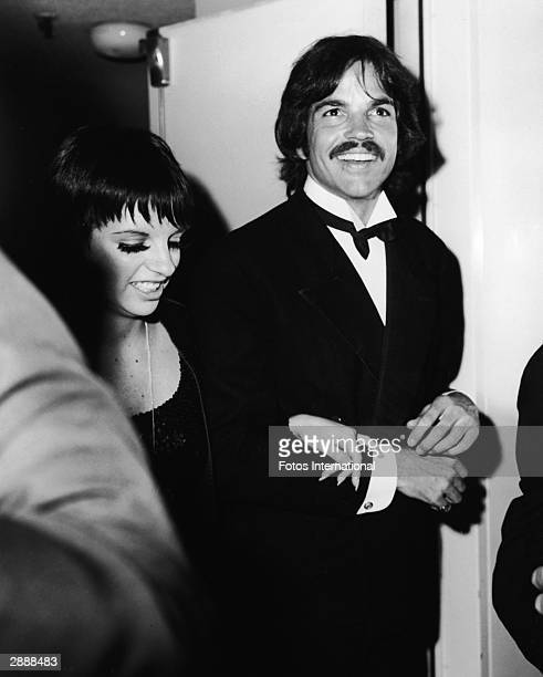 American actor and singer Liza Minnelli and actorTony Bill attend the Academy Awards ceremony Los Angeles California April 2 1974