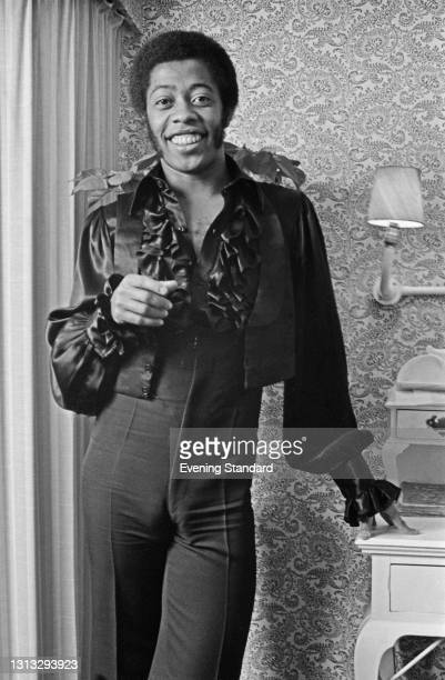 American actor and singer Northern Calloway , who plays the character David on children's television show 'Sesame Street', UK, 21st November 1973.