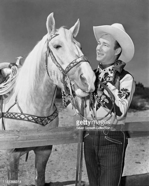 American actor and singer Roy Rogers , circa 1950.