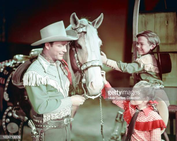 American actor and singer Roy Rogers stars as Pecos Bill circa 1950