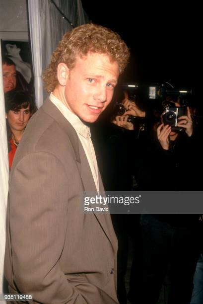 American actor and voice actor Ian Ziering attends the MTV Rock N' Jock Basketball Jam Benefit on March 6 1992 at UCLA's Pauley Pavilion in Westwood...
