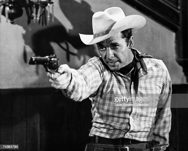 American actor and war hero Audie Murphy stars as Ben Lane in the western 'Six Black Horses', directed by Harry Keller for Universal, 1962.