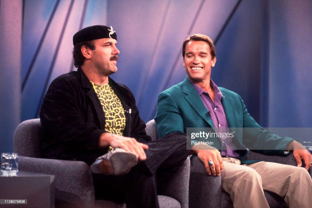 Ventura & Schwarzenegger On The Oprah Winfrey Show : News Photo