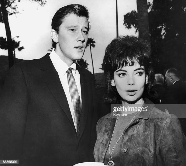 American actor Andrew Prine with girlfriend actress Karyn 'Cookie' Kupcinet circa 1962