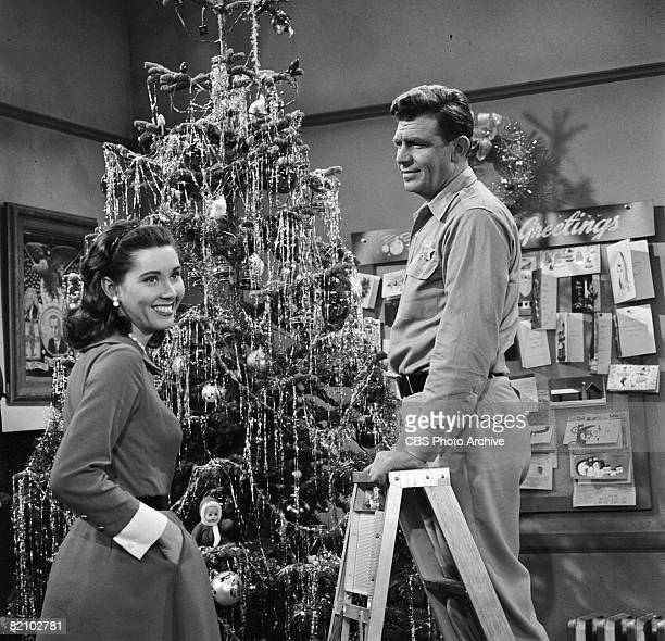 American actor Andy Griffith and American actress Elinor Donahue appear in an episode of 'The Andy Griffith Show' Los Angeles California October 18...