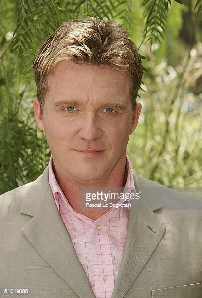 American actor Anthony Michael Hall poses during a photocall at the 44th Monte-Carlo Television Festival on July 2, 2004 held in Monte Carlo, Monaco....