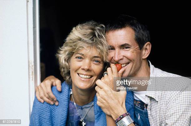 American actor Anthony Perkins and his wife Berry Berenson