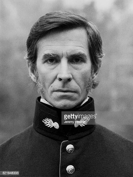 American actor Anthony Perkins at Shepperton Film Studios filming 'Les Misérables' 1978 He plays Javert in the production