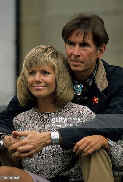 American actor Anthony Perkins stars with actress Glynis Barber in 'Edge of Sanity', a film version of the Jekyll and Hyde story, 19th April 1988.
