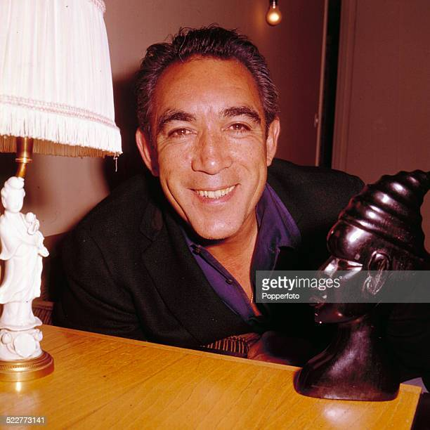 American actor Anthony Quinn posed in 1963
