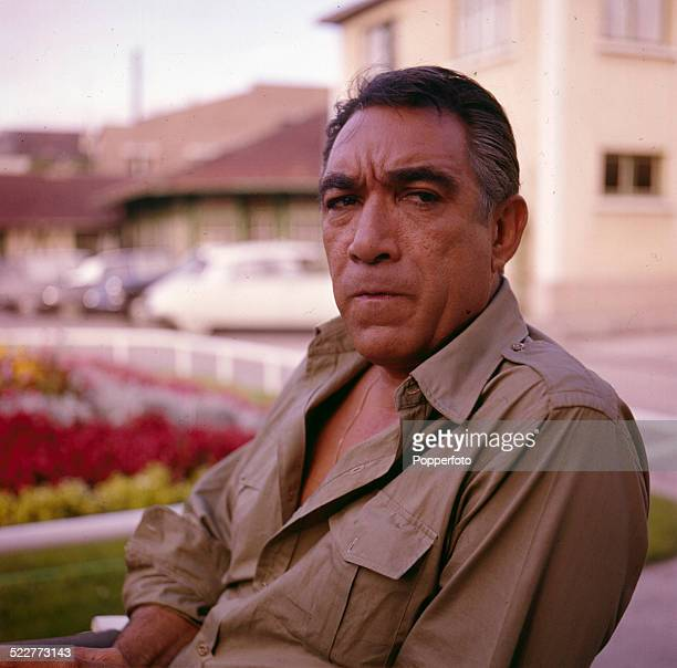 American actor Anthony Quinn posed on location in 1963