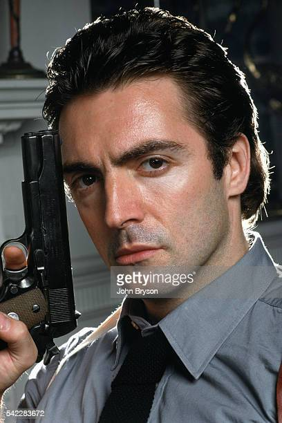 American actor Armand Assante on the set of I the Jury directed by Richard T Heffron Released 1982