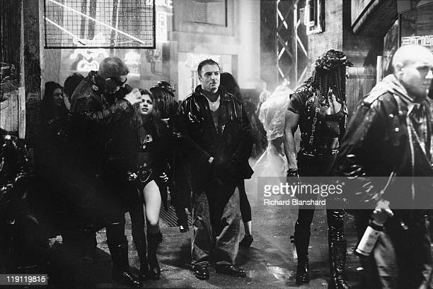 American actor Armand Assante stars as the psychotic Rico in the dystopian scifi film 'Judge Dredd' 1995