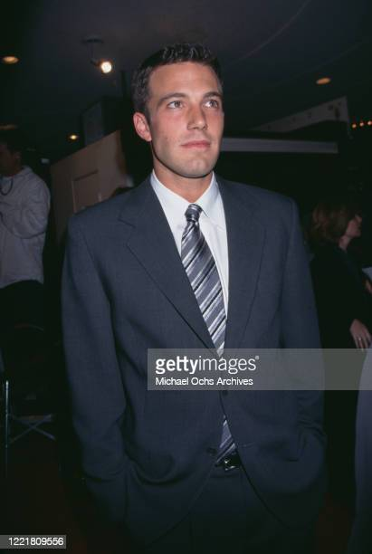 American actor Ben Affleck attends the premiere of 'Good Will Hunting' at the Mann Bruin Theatre in Los Angeles, California, 2nd December 1997.