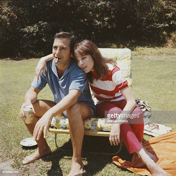 American actor Ben Gazzara with his wife actress Janice Rule 1965