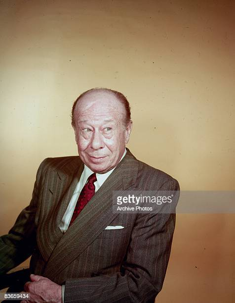 American actor Bert Lahr wearing a jacket and tie circa 1955