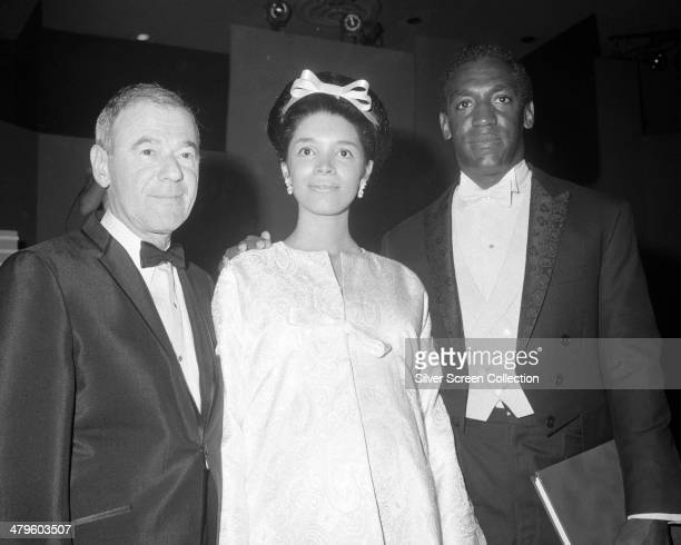 American actor Bill Cosby with his wife Camille at the 18th Emmy Awards at the Hollywood Palladium Los Angeles 22nd May 1966 Cosby won the award for...