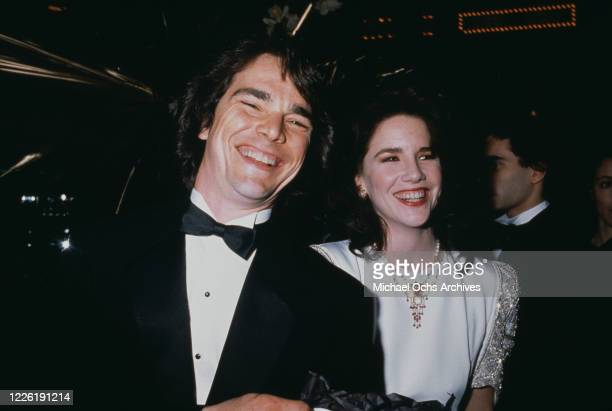 American actor Bo Brinkman and his wife, American actress Melissa Gilbert attend the Hooray For Hollywood AIDS Benefit, held at Bloomingdale's in New...