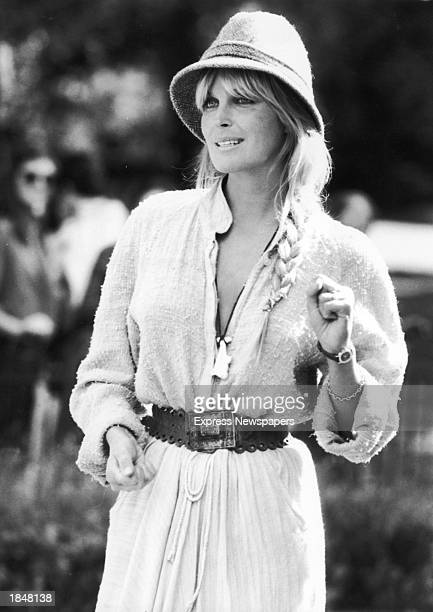 American actor Bo Derek stands outdoors at the Regent Park Zoo while promoting the film 'Tarzan,' directed by her husband John Derek, London,...