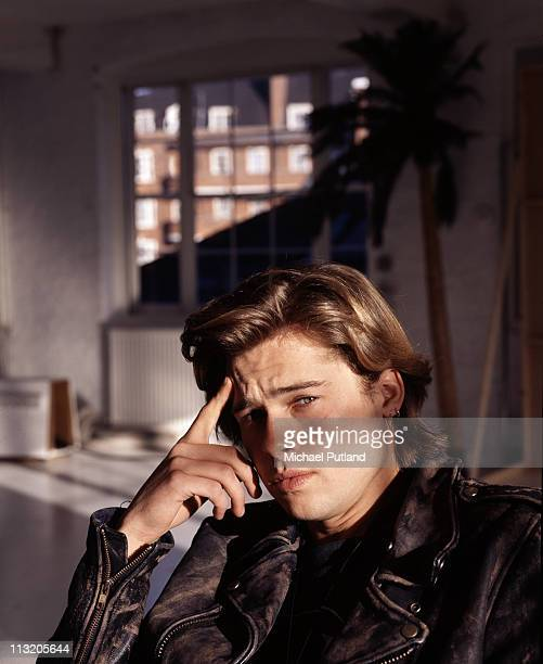 American actor Brad Pitt, London, 1988.