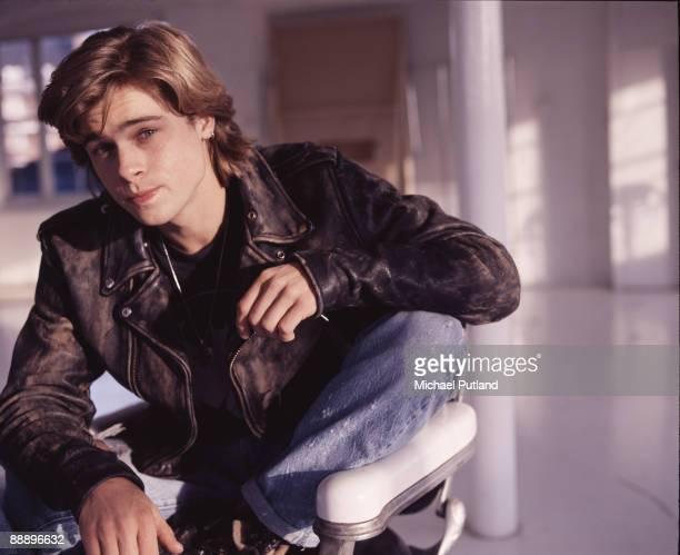 American actor Brad Pitt London 1988