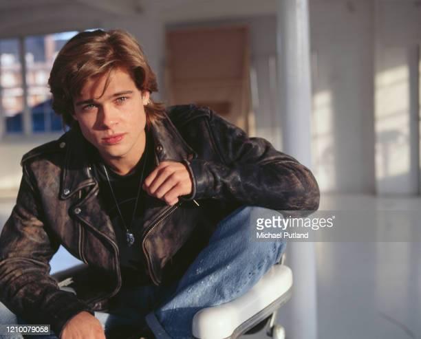 American actor Brad Pitt posed in London in October 1988