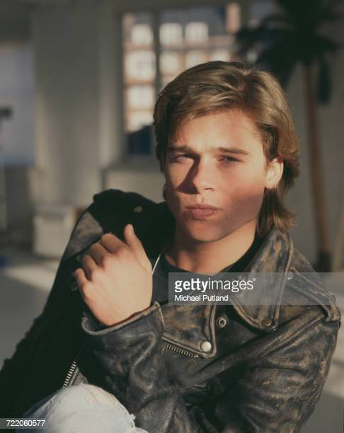 American actor Brad Pitt posed in London in October 1988.