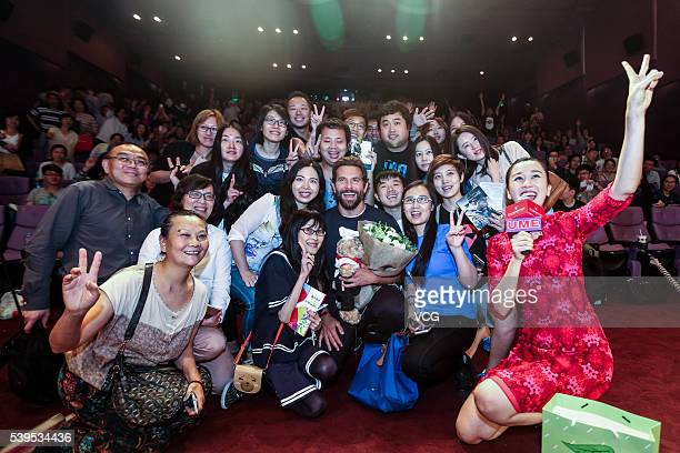 American actor Bradley Cooper attends the fan meeting of film 'Silver Linings Playbook' during the 19th Shanghai International Film Festival on June...