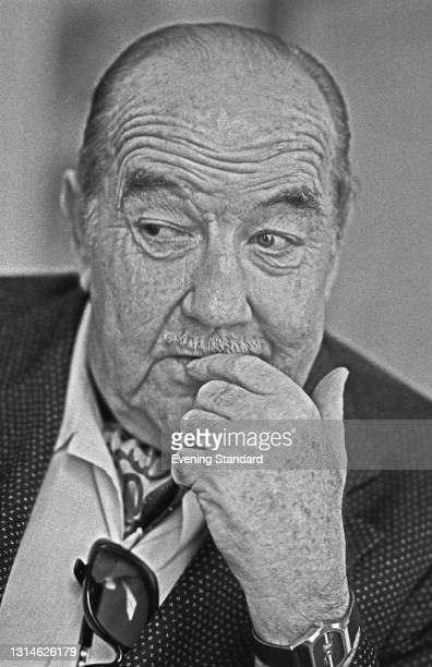American actor Broderick Crawford , UK, 3rd May 1974. He starred in the film 'The Phantom of Hollywood' that year.