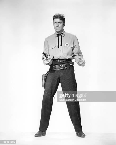 American actor Burt Lancaster as Marshal Wyatt Earp in 'Gunfight At The OK Corral' directed by John Sturges 1957