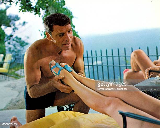 American actor Burt Lancaster as Ned Merrill in the film 'The Swimmer' 1968