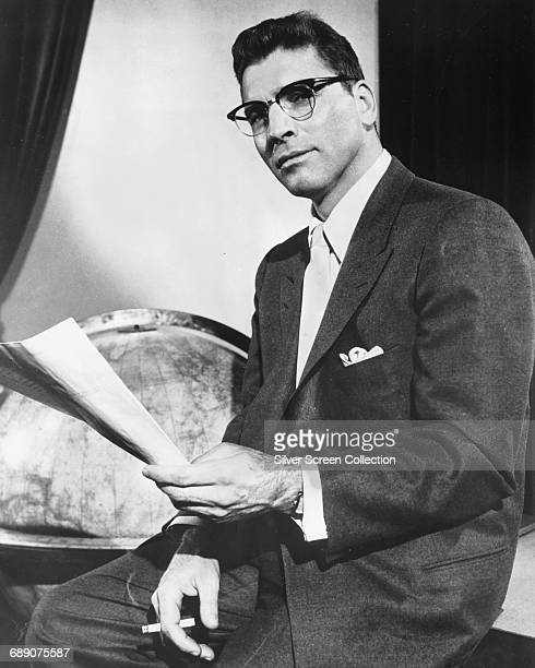 American actor Burt Lancaster as newspaper columnist JJ Hunsecker in a publicity still for the film 'Sweet Smell of Success' 1957