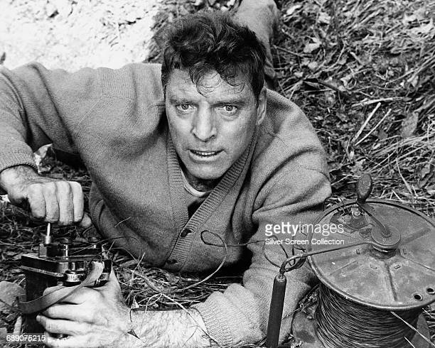 American actor Burt Lancaster as Paul Labiche of the French Resistance in the war film 'The Train' 1964