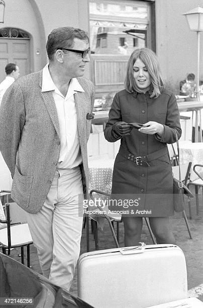 American actor Burt Lancaster just arrived in Rome on holiday with his daughter Joanna Rome 1966